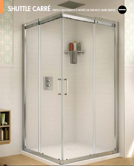 Douche Shuttle carré 42'' DH-056